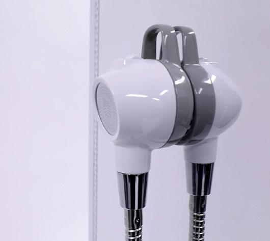 장애인, 비장애인을 위한 유니버설 손가락 걸이형 양면 토출 샤워 헤드
