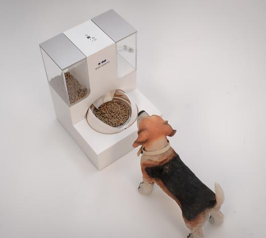 습식사료 제조가 가능한 강아지 자동 급식기